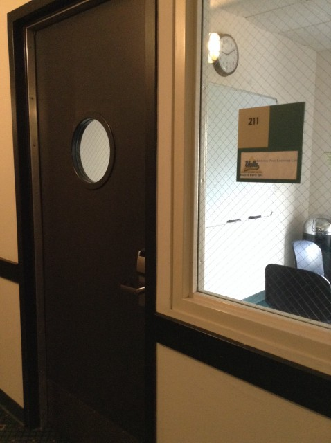 Room 211 door