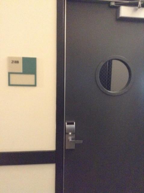 Room 218B door
