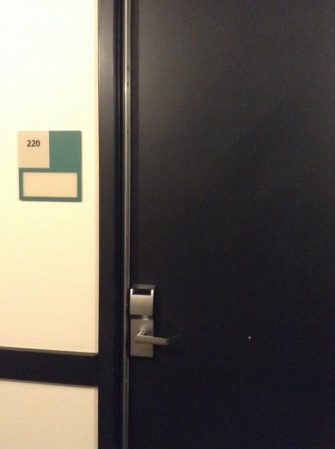 Room 220 door