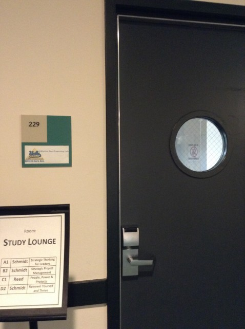 Room 229 door