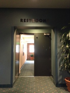 Hallway leading to restrooms