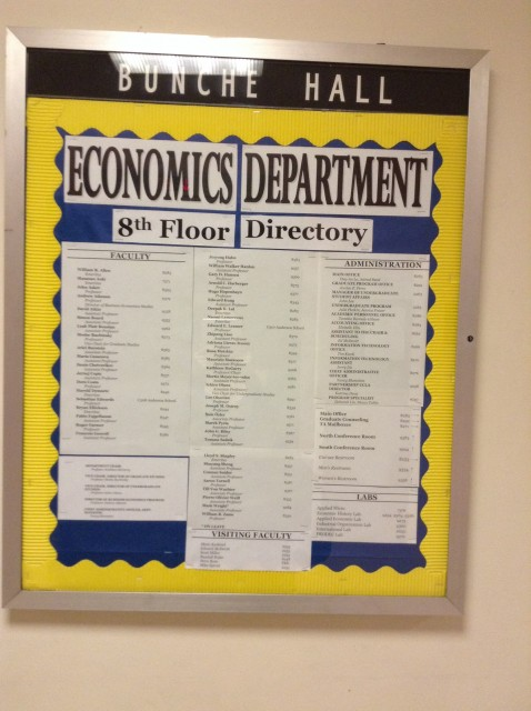 Economics Department