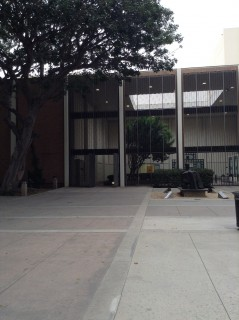 Main entrance from Sculpture Building