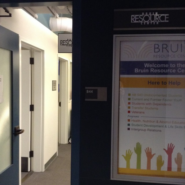 Inside B level entrance