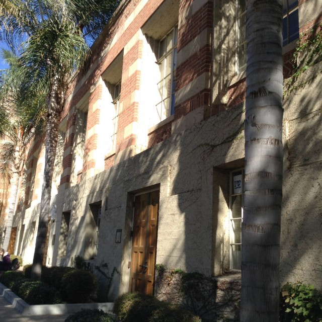 Side view of SAC and LGBT & Bruin Resource Center