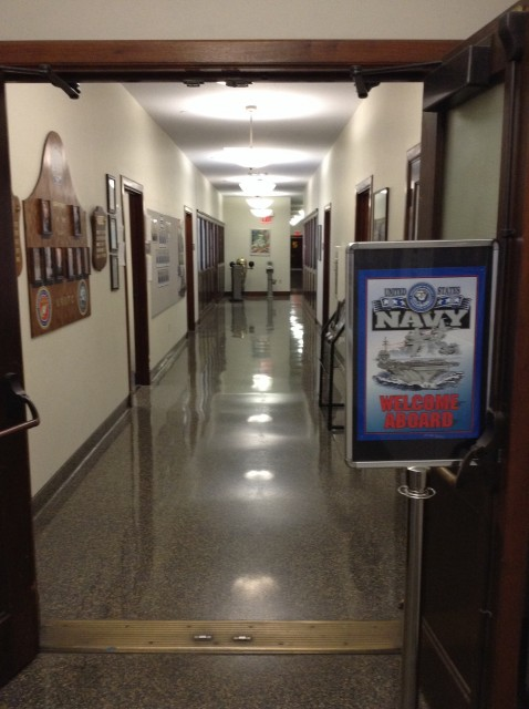 Down this corridor