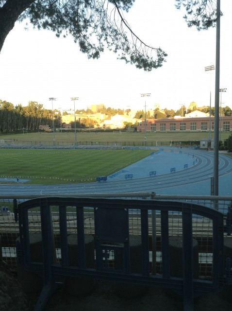 Background view of field (front field and track is Drake)