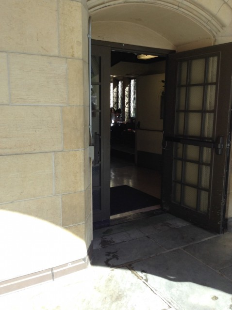 Patio stairwell entrance