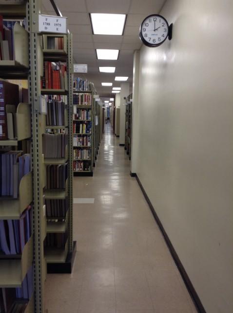 Hallway in Between Bookstacks