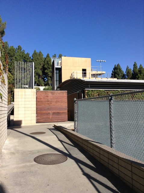 Spieker entrance by tennis courts