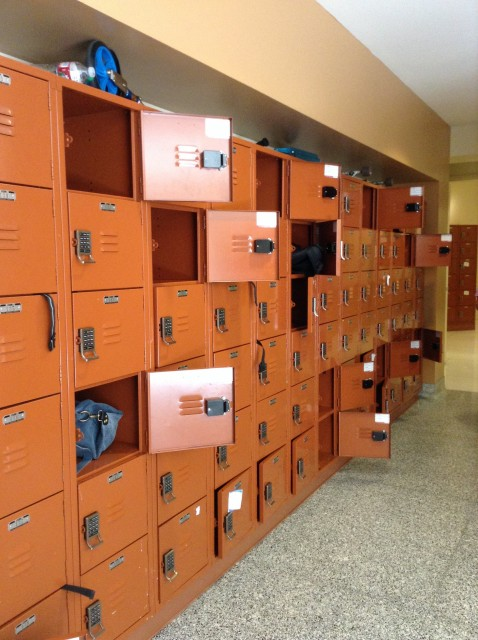 The lockers, good luck remembering which is yours.