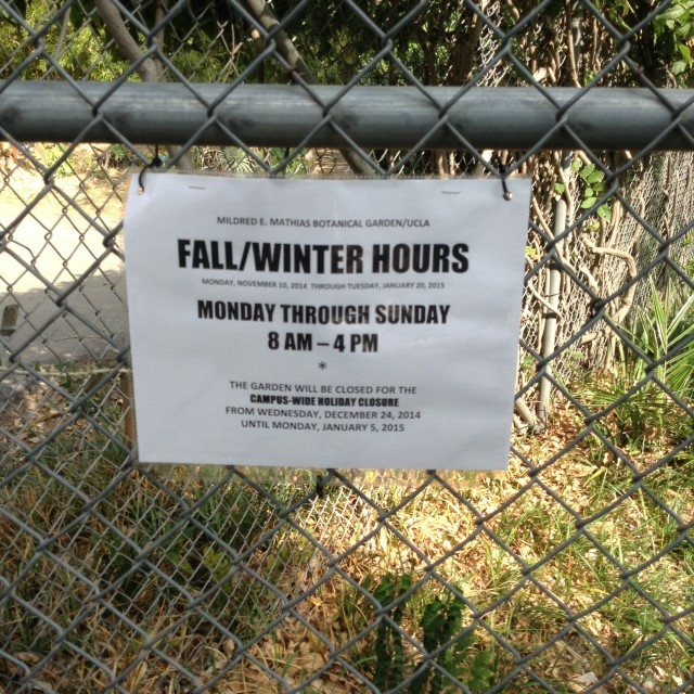 Fall/Winter Quarters 2014-15 Hours