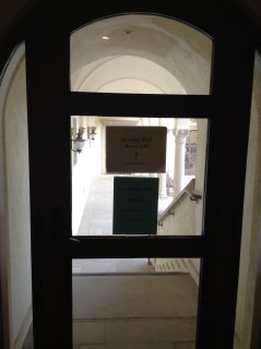 If coming from Terasaki Courtyard/ first floor, follow signs thru door