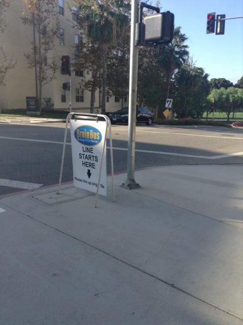 Bus stop corner