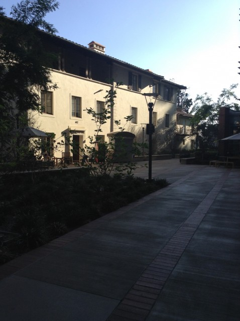 View coming from South Campus into Terasaki courtyard