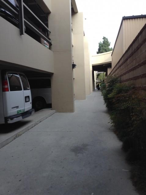 Pedestrian walkway alongside Lot 8