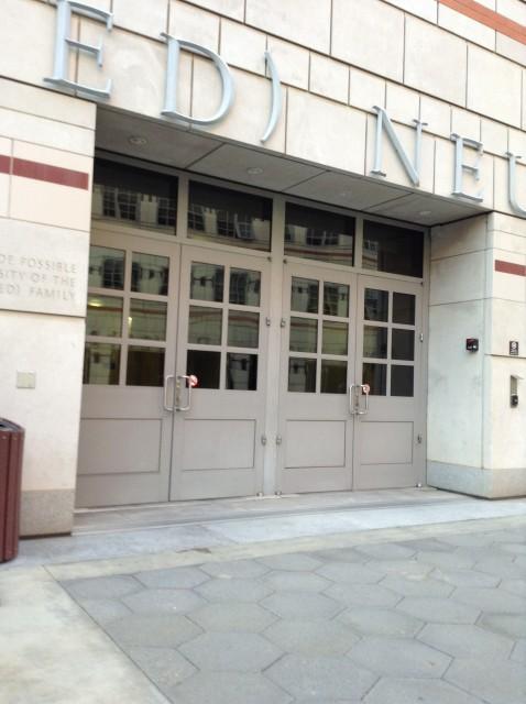 Entrance, into Gonda and Cafe Synapse