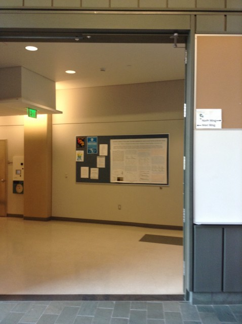 To the right, thru this doorway
