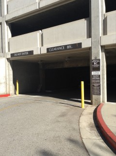 Parking lot entrance