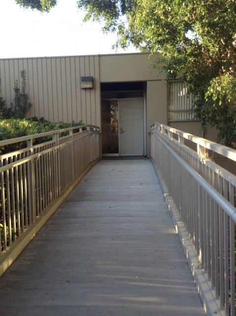 Wheelchair access to building