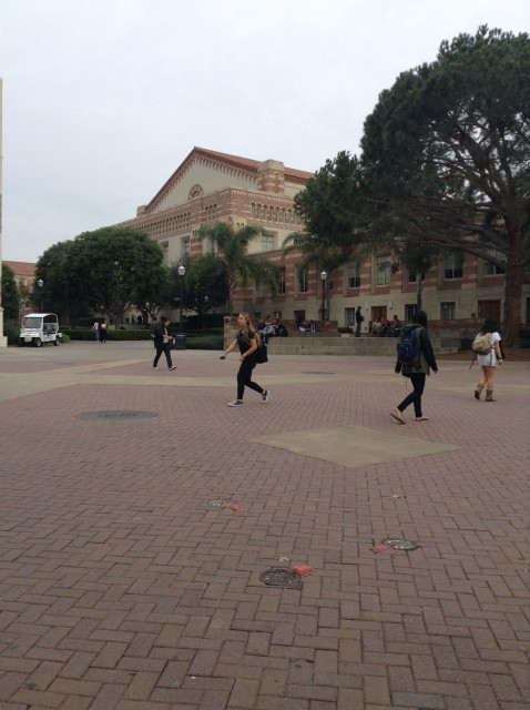 Bruin Plaza facing the stage