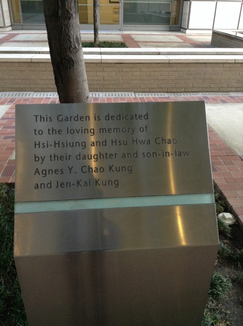 Placard telling you about the garden