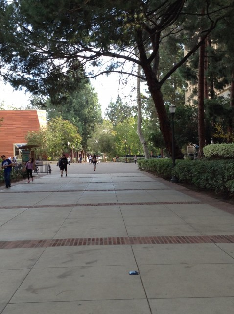 Entrance coming from Franz hall and math and science