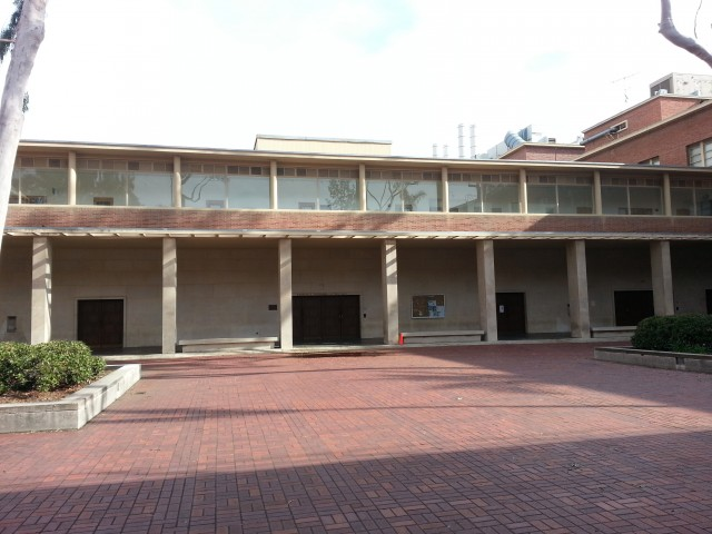 Slichter Hall. Note: Slichter Hall has no direct entrances. The doors in the picture are lecture halls part of Young Hall.