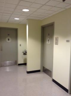 Near elevators