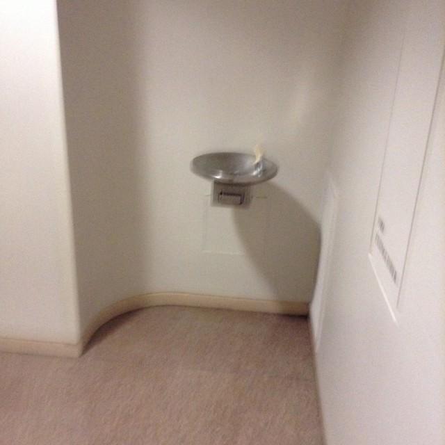 By women's restroom