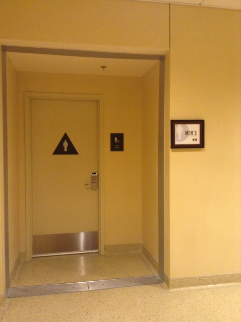Men's restroom entrance