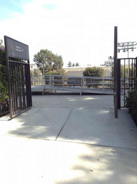 Gate E entrance, disabled access