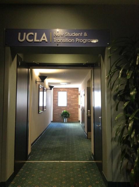 Hallway to restrooms