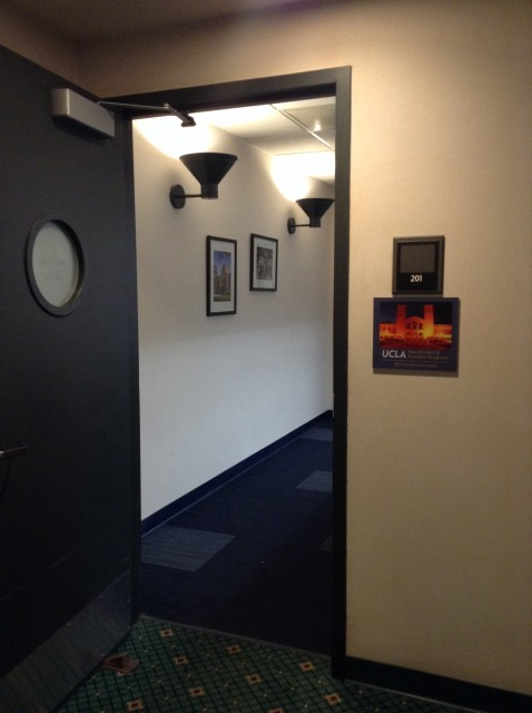 Room 201 entrance