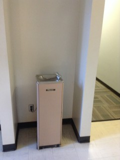 3rd best water fountain on campus. Excellent pressure and volume ratio.