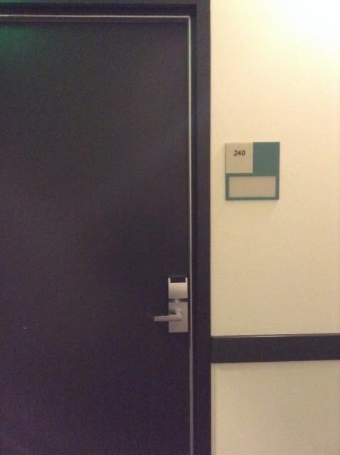 Door to room 240