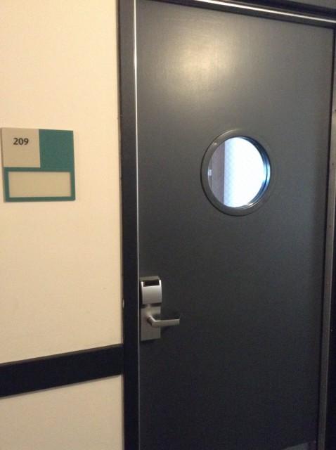 Door to Room 209