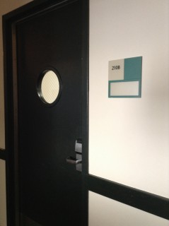 Door to room 210B