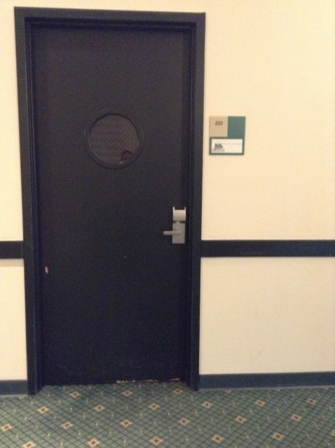 Room 221 door
