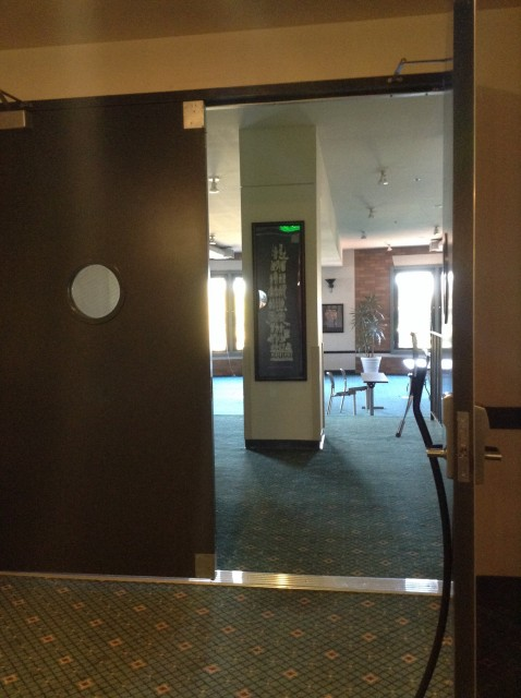 Double doors leading to study lounge