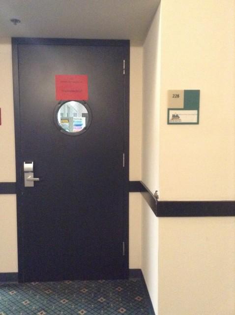 Door to room 228
