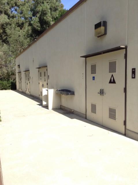 Men and women's restrooms