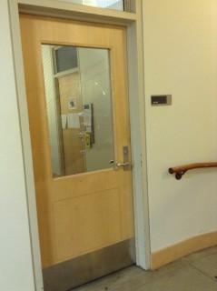 Front entrance inside building